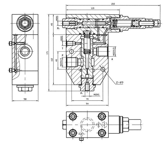 梭阀,蓄能器,压力报警器,压力表开关,溢流阀,溢流限压阀,组合控制阀.